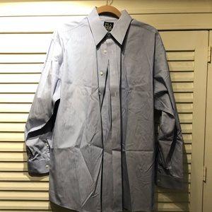 JoS. A. Bank blue striped dress shirt - 15.5x33